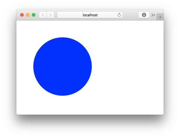 Browser REPL Showing Blue Circle