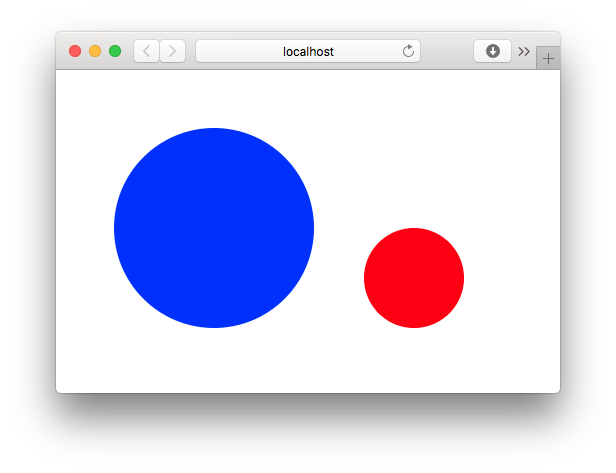 Browser REPL Showing Blue and Red Circle